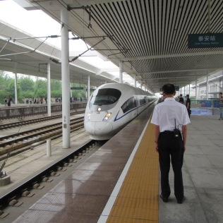 4100 - the new train station in the town next to Mt. Tai