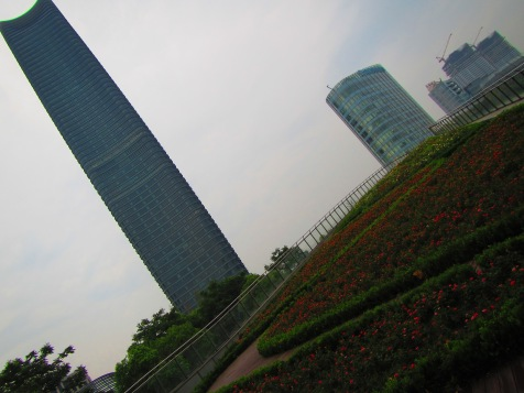 4165 - walking around Shanghai (the park ontop of the ferry terminal)
