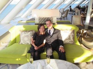 10420 - First full day at sea on the Crystal Symphony(all dressed up)