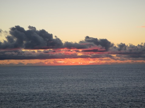 10429 - First full day at sea on the Crystal Symphony(out to see the sunset)