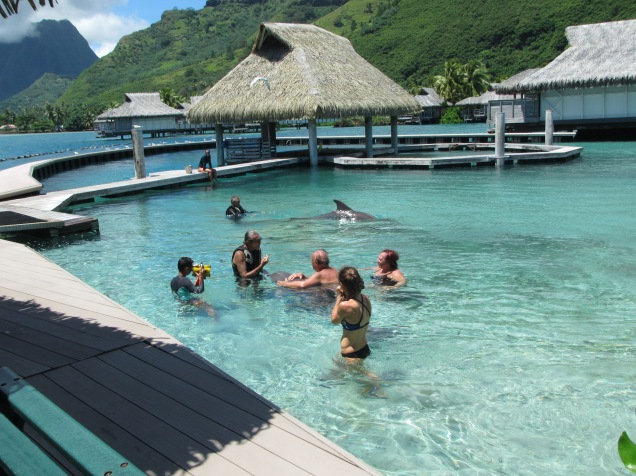 10886 - Moorea - The walk to the Intercontinental hotel and resort