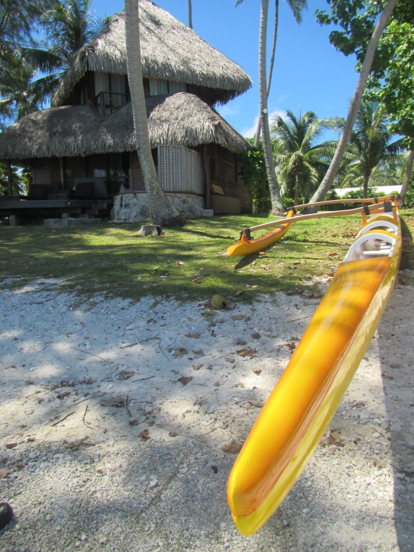 11044 - Rangiroa - rented a canoe and went for a paddle on the inside beachs of the atoll