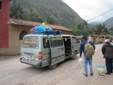 12475 - bus to and walk from ollantaytanbo to Pumamarca(outside of colectivo)