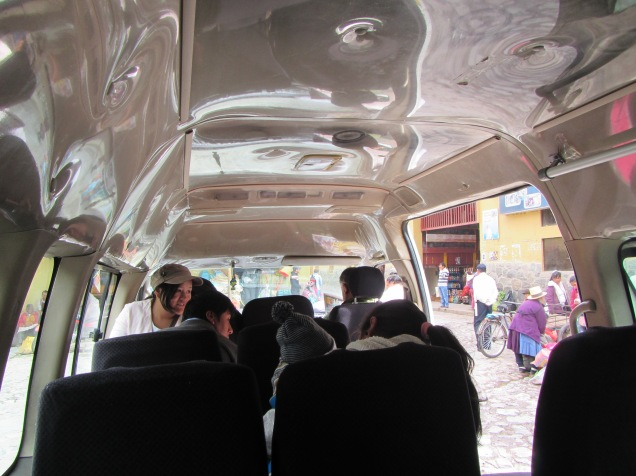 12504 - bus to and walk from ollantaytanbo to Moray and Maras(inside colctivo)