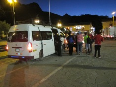12574 - bus to and walk from ollantaytanbo to Moray and Maras(outside a very full collectivo)
