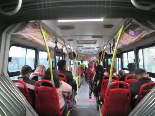 12845 - bus from Guayaquil to Quito(inside the city bus)