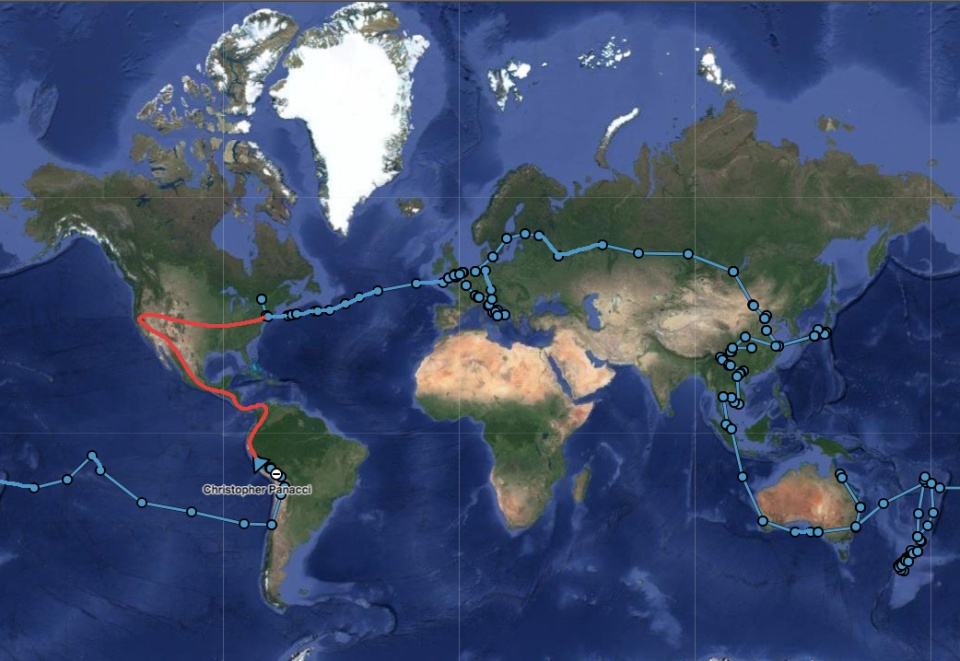 map of the trip