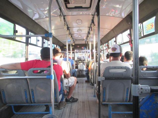 13286 - bus ride from El Coca to Quito(inside city bus for El Coca)