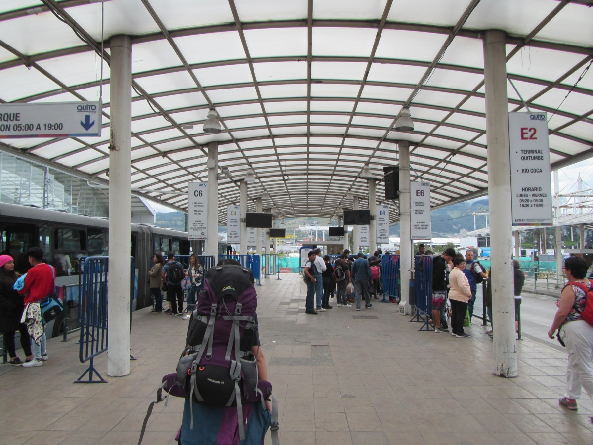 13292 – bus ride from El Coca to Quito(inside bus station in