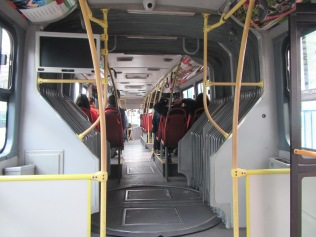 13293 - bus ride from El Coca to Quito(inside city bus in Quito